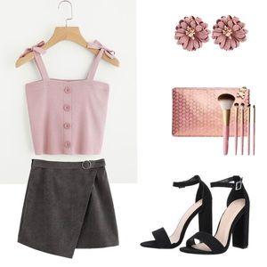 Tops - Blush Pink Crop Top